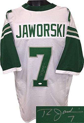 db8d85abd42 Ron Jaworski Signed Jersey - White TB Custom Stitched Pro Style  7 XL  Witnessed Hologram