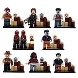 Walking Dead The Avengers Marvel DC Super Heroes Series Building Blocks Sets Minifigure Bricks Toys Compatible With Lego 8Pcs/Set (No box, no card)