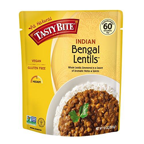 Aromatic Indian Dishes (Tasty Bite Indian Entrée, Bengal Lentils, 10 Ounce (Pack of 6))