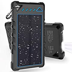 Why So Many People Choose HOBEST 10000mAh Solar Charger? High Capacity Battery: Equipped with 1,0000mAh battery inside, the power bank could recharge your devices many times. With dual USB charging port, this external battery pack could charg...