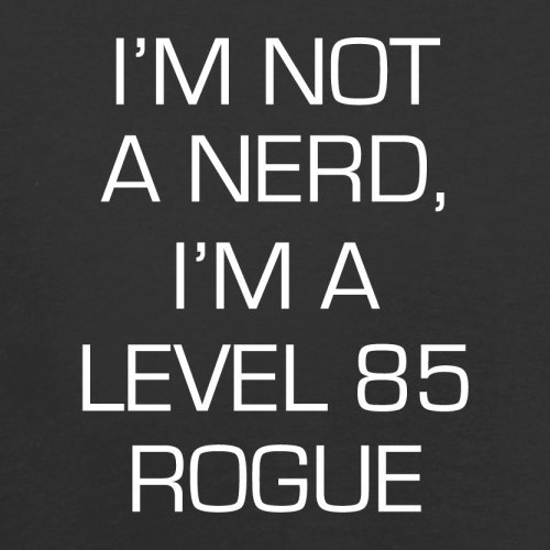 Nerd Flight Retro Rogue 85 I'm Red Black Not Dressdown A Bag Level HwtZ8Kq