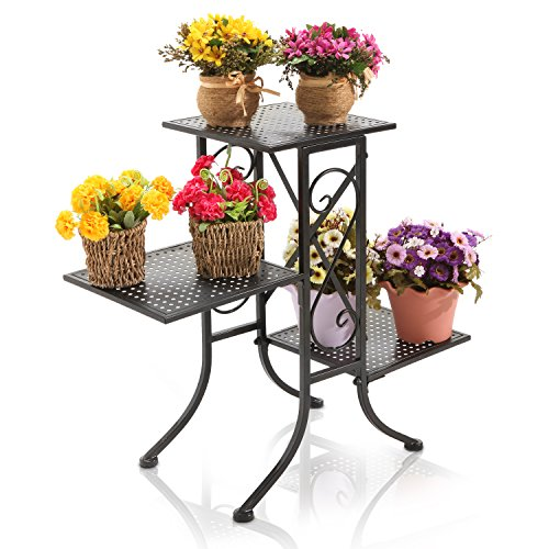Scrollwork Planter Display Perforated Shelves