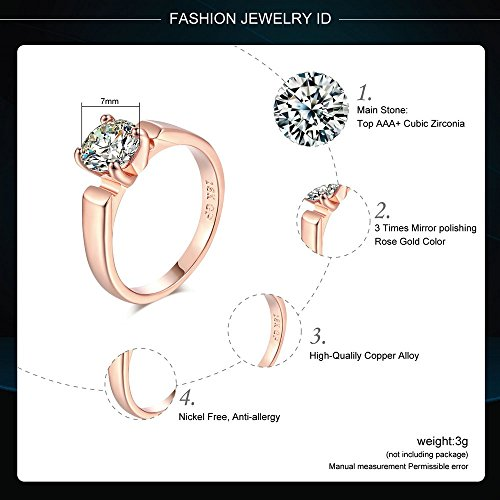 Amazon.com: 1.25 Carat Round Cut Cubic Zircon Engagement Rings - Wedding Jewelry for Men/Women - Proposal Rings - Wedding Bands - Gorgeous Elegant Design ...