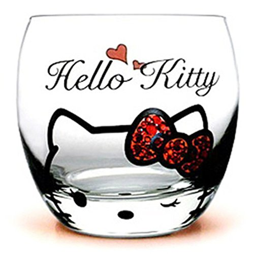 Cute Cartoon Hello Kitty Cup Unique Rock Glass Cup Personality Creative Red Wine Glass