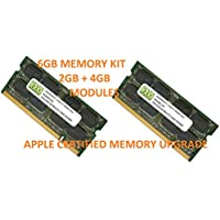6GB (4GB + 2GB) DDR2 800MHz PC2-6400 SODIMM for Apple White MacBook 13.3 Intel Core 2 Duo 2.13GHz (MacBook 5,2)