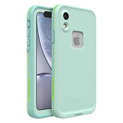 new style 855ee fd3bd Lifeproof FRĒ SERIES Waterproof Case for iPhone XR - Retail Packaging -  TIKI (FAIR AQUA/BLUE TINT/LIME)