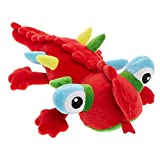 TOP PAW Holy Guacamole Red Lizard Plush Squeaker Dog Toy
