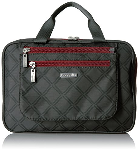 Baggallini Deluxe Travel Cosmetic, Charcoal Link