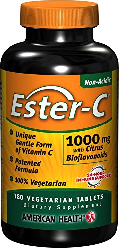 American Health Product Ester C 1000mg with Citrus Bioflavonoids, 180 Count (Health Products Vitamin C)