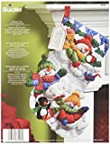 Bucilla 18-Inch Christmas Stocking Felt Applique Kit, 86108 Snow Fun