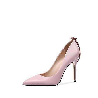 Mme Mode Pompes OL Stiletto Pointu Chaussures Lady Confortable Noir Beige Chaussures de Soirée,Beige-EU:38/UK:5.5