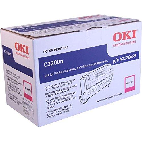 - Oki C3200 Series Magenta Image Drum Ships W/ 1000 Yield Toner