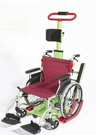 LUO 2018 Escalera de Escalada Silla de Ruedas Eléctrica Arriba Silla de Ruedas Arriba Coche Especial con Discapacidad Escalador,Verde,63 * 56 * 112cm: ...