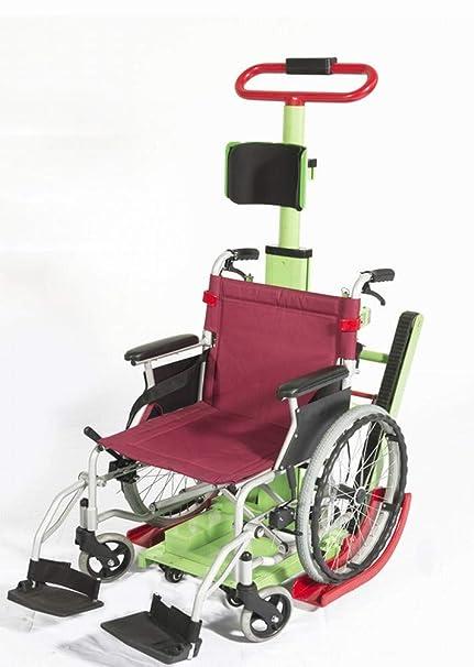 GZZ 2018 Escalera de Escalada Silla de Ruedas Eléctrica Arriba Silla de Ruedas Arriba Coche Especial con Discapacidad Escalador,Verde,63 * 56 * 112cm: ...