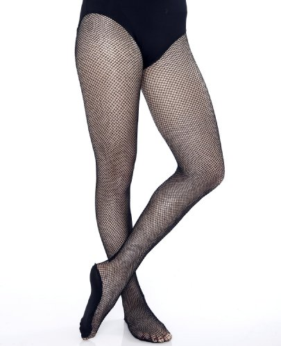 Danskin Women's Professional Fishnet Tights,Black,A/B