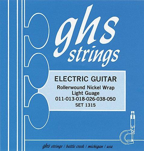 GHS 1315 Rollerwound Nickel Wrap Light Strings ()