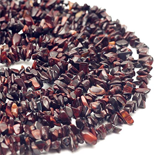 (Oameusa 5-7mm Agate Chips Red Tiger Eye Agate Chips Agate Beads Gemstone Beads Loose Beads Agate Beads for Jewelry Making 34