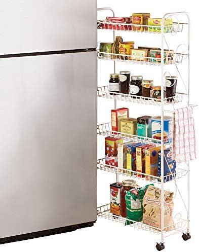 Slim Rolling Pantry 6-Tier Shelf