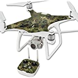 MightySkins Protective Vinyl Skin Decal for DJI Phantom 4 Quadcopter Drone wrap cover sticker skins TrueTimber Viper Woodland