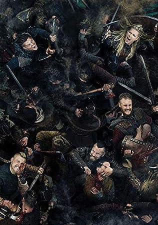 Ragnar Lothbrok A3 High Quality Art Print Vikings