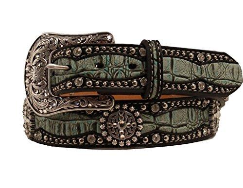 - Ariat Accessories Women's Faux Gator Belt M, Green