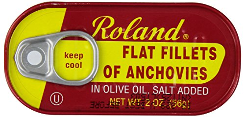 Price comparison product image Roland Foods Anchovies Fillets,  Flat in Olive Oil,  2 Ounce (Pack of 25)