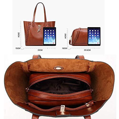 Borse Borsa Soft Bags Donne Black Borse Spalla Tracolla Womens Per Leather Borsa Le Tote Sx black x1wOTaqX