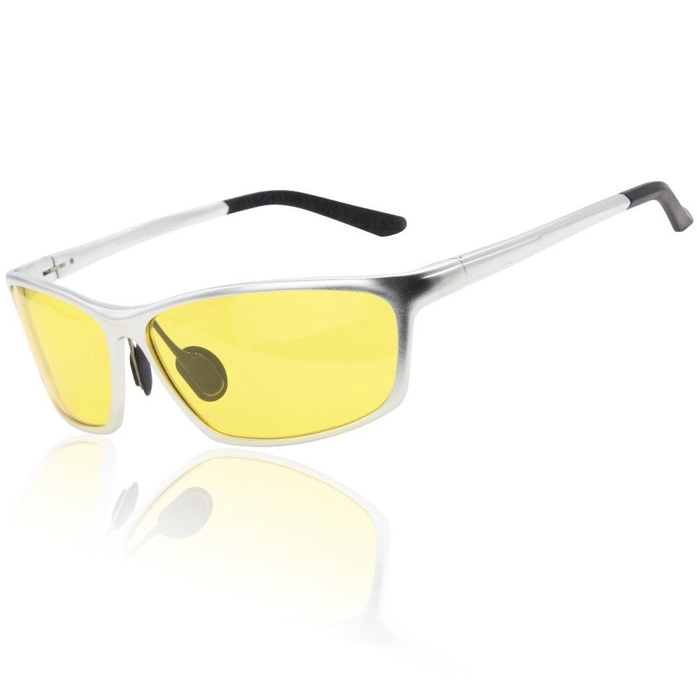 DUCO Nachtfahrbrillen fü r Scheinwerfer polarisierte Fahren Brille 2179 (Schwarz) SH2179Schwarz