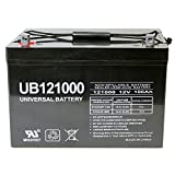 Universal UB121000-45978 12v 100AH Deep Cycle AGM Battery 12V 24V 48V(Black)