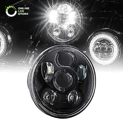 "5.75"" Round LED Headlight [Black Housing] [Projector] [3450 Lumens] Harley Davidson Motorcycle"