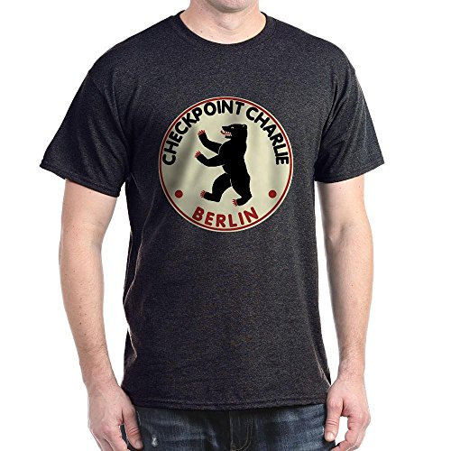 CafePress Checkpoint Charlie - 100% Cotton T-Shirt (Wall Point Entertainment)