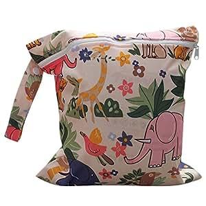 Bolsa de Pañales Reutilizable Bolsa con Cremallera Impermeable