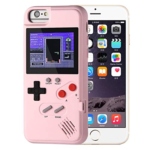 Game IPhone Case, IPhone Case Game Console With 36 Small Games,Color Screen,Retro 3D Game Design For IPhone Xs/X,iPhone8/8 Plus,iPhone 7/7 Plus,iPhone 6/6Plus (iPhone XR, Black) (Pink, IPHONE6/7/8)