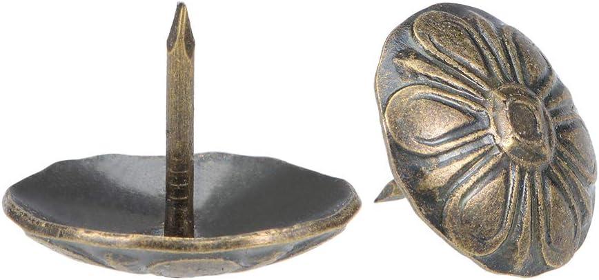 di/ámetro redondo de cabeza 19mm Tono Oro 80 Piezas sourcing map Pernos de empuje de pulgar clavos tachuelas/de tapicer/ía