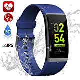 Fitness Tracker, Hamney Waterproof Heart Rate Monitor Color Screen Fitness Watch Activity Tracker