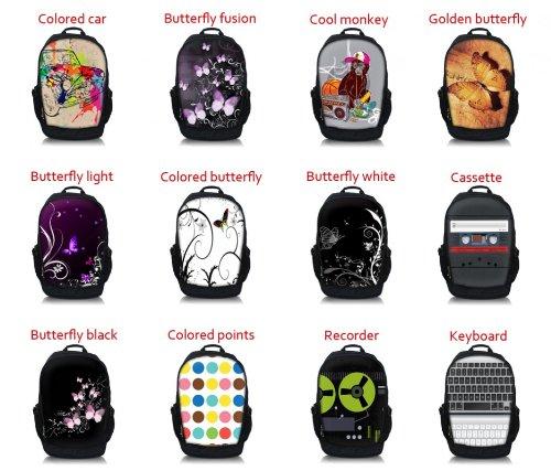 MySleeveDesign mochila cartera con compartimento para portátiles �?VARIOS DISEÑOS Colored Butterfly
