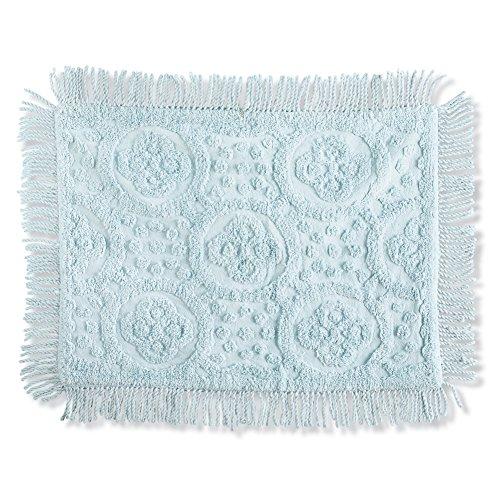- Collections Etc Matrix Lattice Chenille Pillow Sham, Light Blue, Sham
