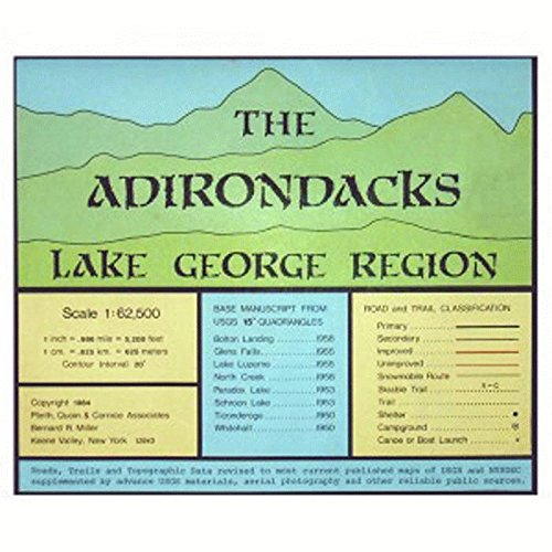 ADK Lake George Region Map One Color One Size