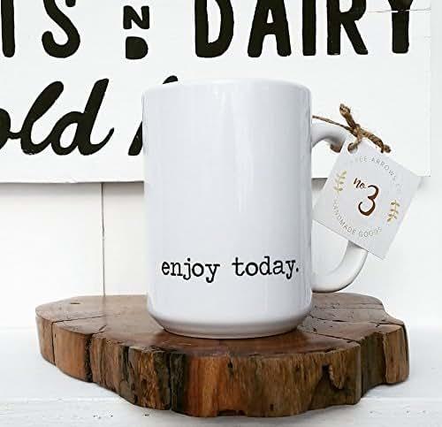 Coffee Kitchen Curtains Amazon Com: Amazon.com: Enjoy Today Mug