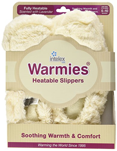 Intelex Furry Warmers Luxury Heatable Slippers - Colour : Brown Cremefarben