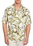 Tommy Bahama Men's Big & Tall Blumenau Silk Hawaiian Camp Shirt (Marble Cream, 2XB)