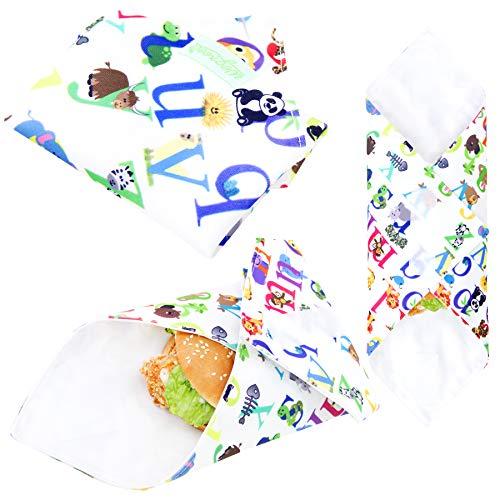 Wegreeco Reusable Sandwich Wrap, (Set of 3) - Animal Alphabet by Wegreeco