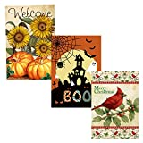Morigins Holiday Decorative Double Sided Seasonal House Flags Set 28×40 Inch Review