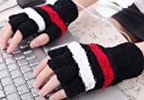 Black with Stripes USB Heating Warmer Hand Gloves