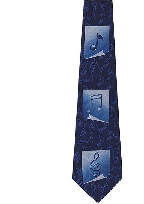 Notas musicales azules sobre la corbata de los hombres azules ...