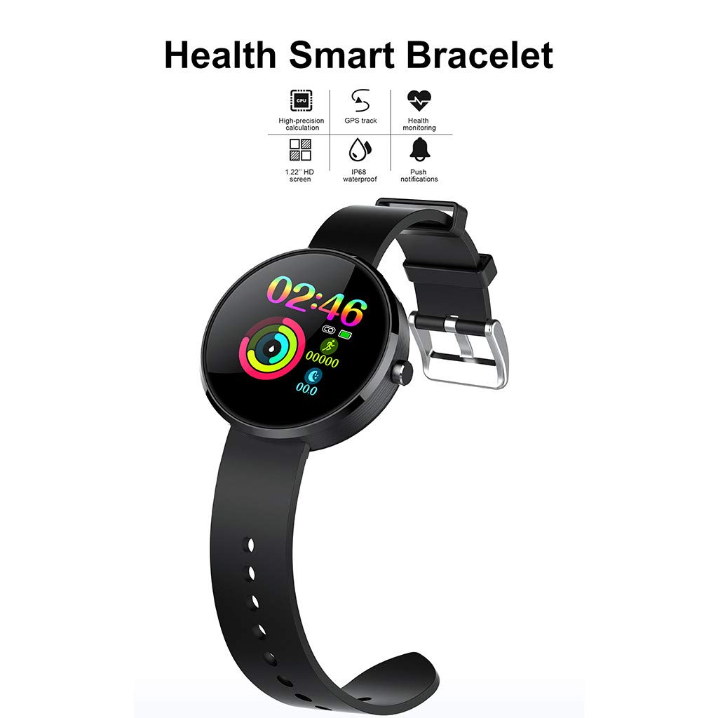 YNAA for Android iOS, Sport Smart Watch, Fitness Calorie Heart Rate Monitoring Physiological Cycle Reminder Smart Bracelet (C) by YNAA (Image #5)