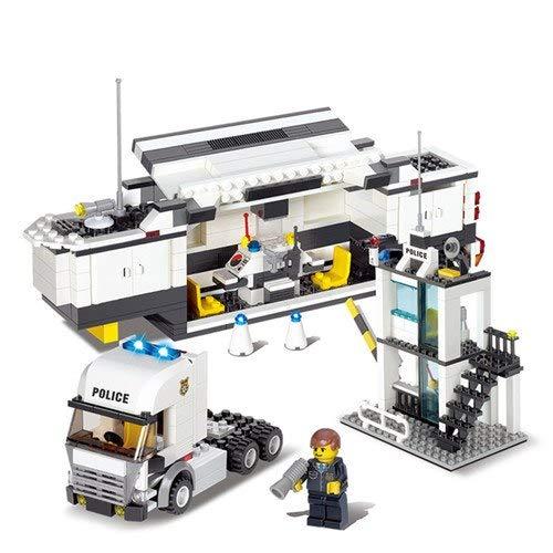 PampasSK Blocks - Toys 511PCS Mobile Police Station Truck Building Blocks for Children Compatible Legoed City Policeman Figure DIY Bricks 1 PCs