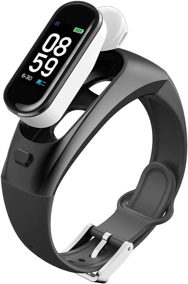 KJSMA Reloj inteligente de pulsera para fitness, resistente al agua, deportivo, rastreador de actividad, con monitor de presión arterial, podómetro