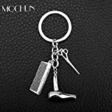 Algol - 2017 Sale Hair Dryer/Scissor/Comb Keychain & Pendants Scissors Jewelry Cosmetologist Hair Dresser Key Chain Hairdresser Gift
