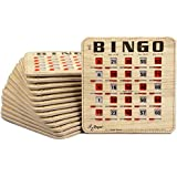 featured product Regal Games Extra Thick Stitched Woodgrain Quick Clear Rapid Reset Shutter Bingo Cards with Big Tabs